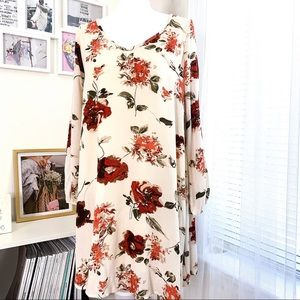 Mittoshop Long Sleeve Floral Tunic Dress Size S
